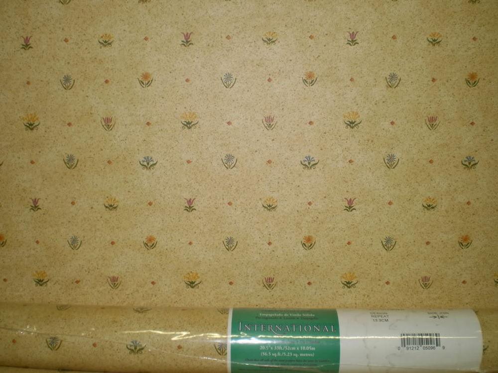 Small Print Country Flowers on Custard Yellow Wallpaper Pattern 1000x750
