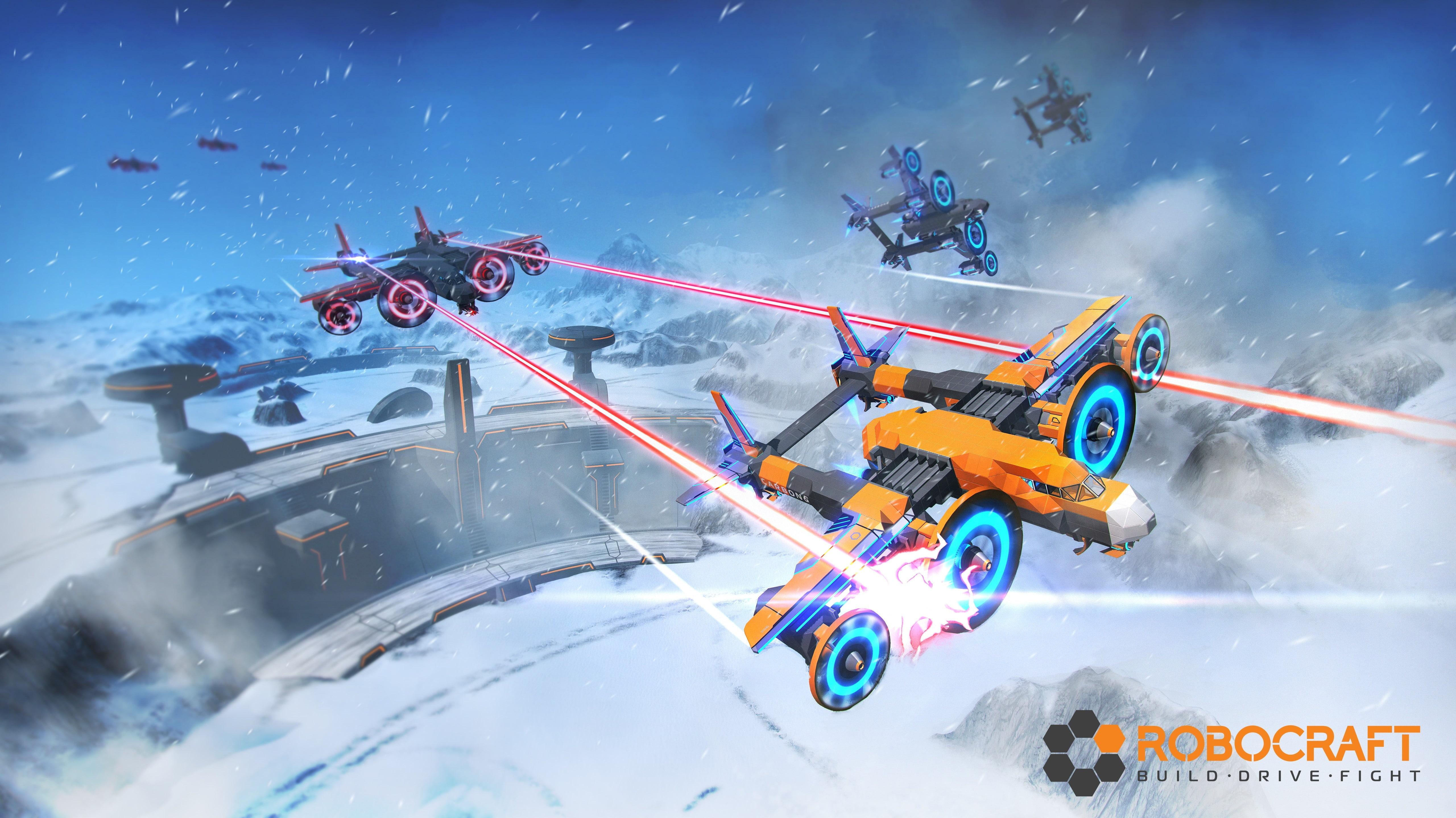 HD wallpaper robocraft battle Games mode of transportation 5120x2880