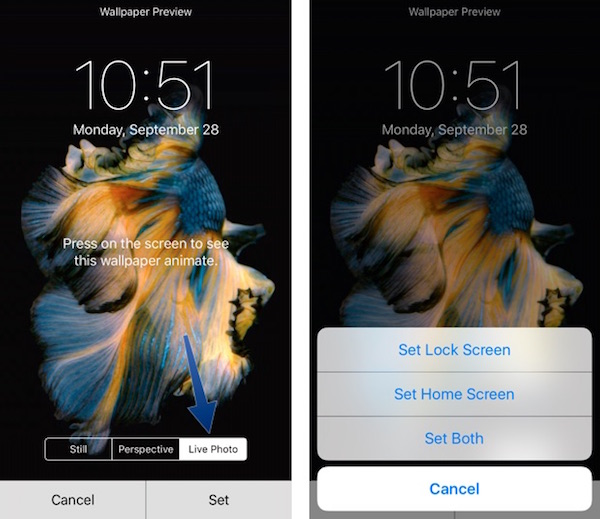 how to set a live wallpaper on iphone 5