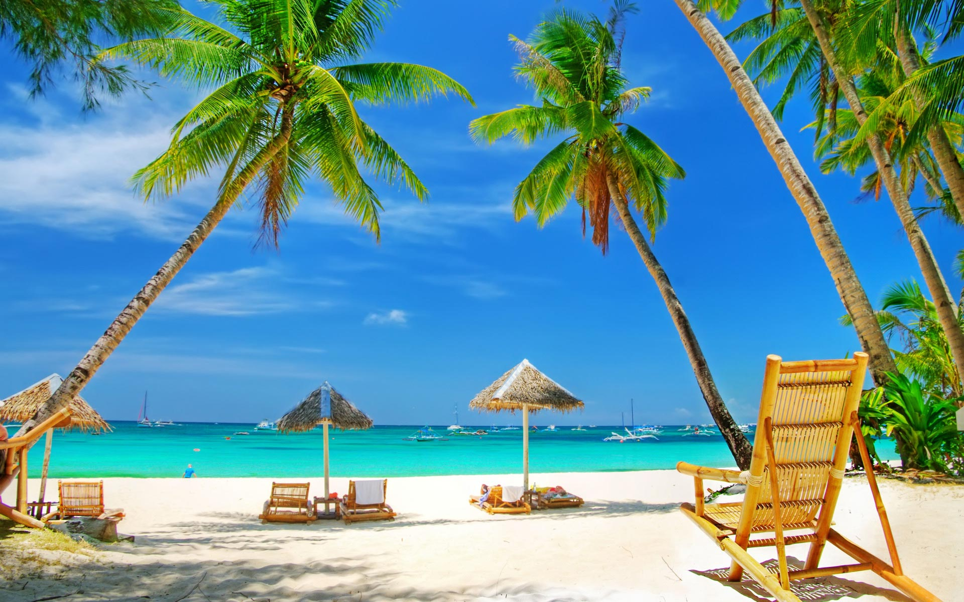 Tropical Beach HD Wallpapers 1920x1200