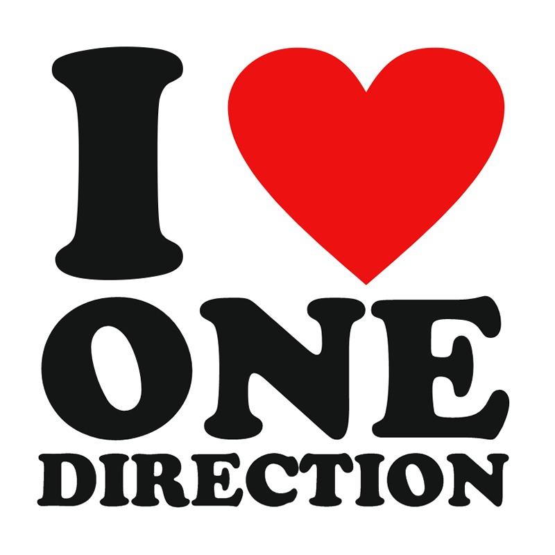 I Love One Direction Logo I Love One Direction W...