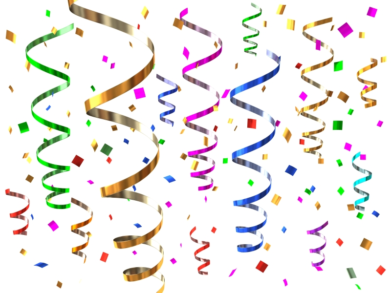Confetti New Year Clip Art Merry Christmas And Happy New 800x600