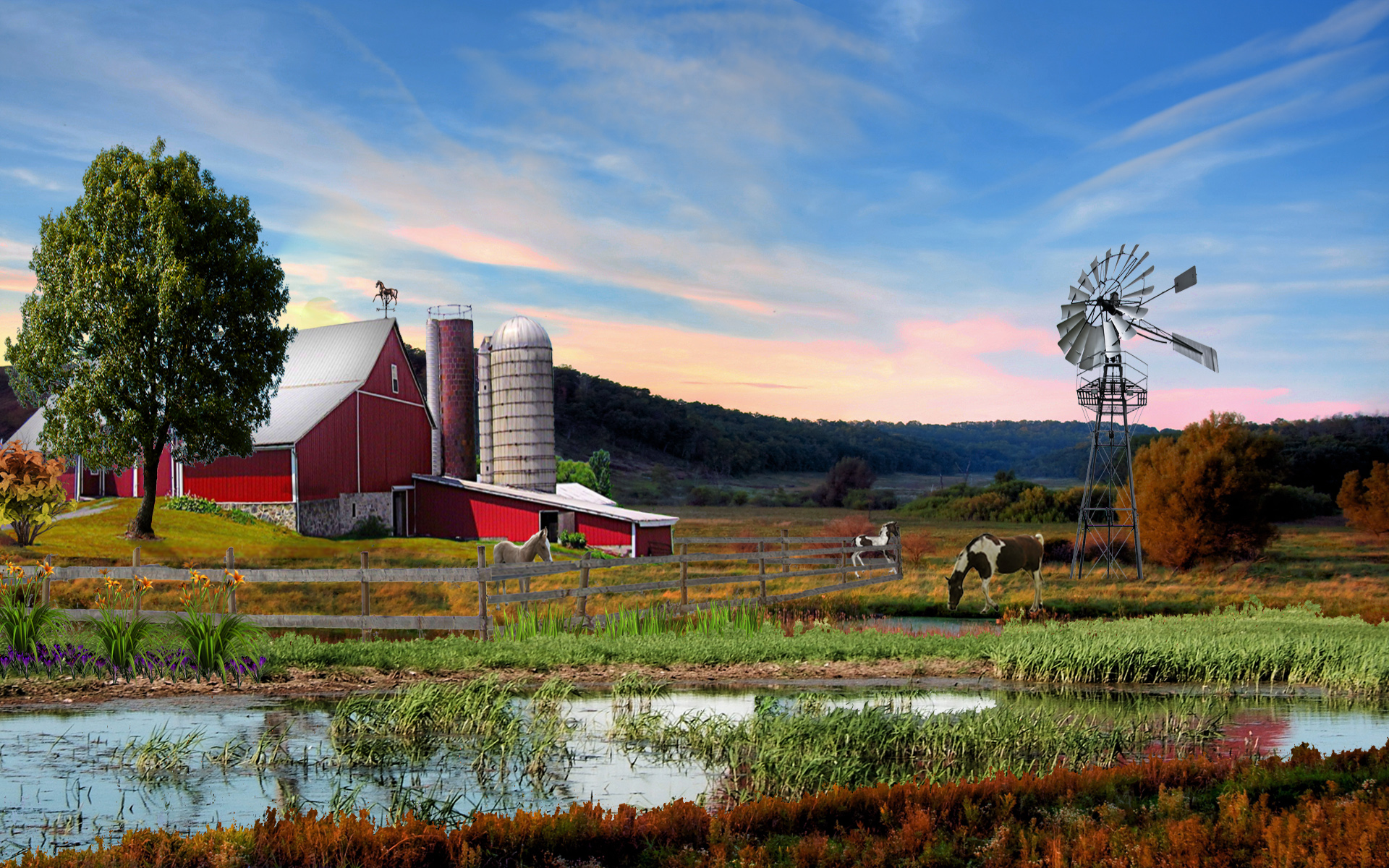 Beautiful Summer 2012   down on the farm Wallpapers   HD 1920x1200