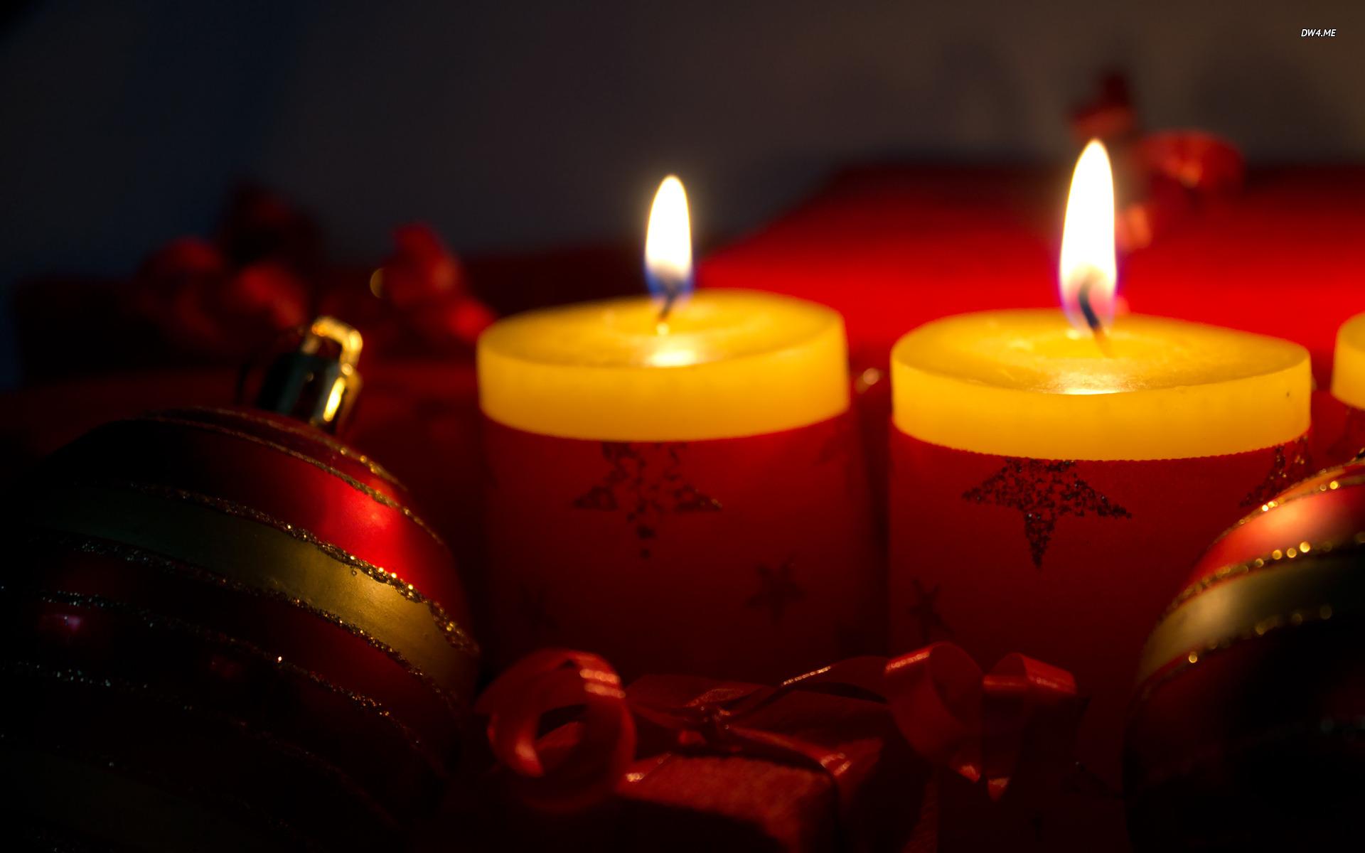 Christmas candles wallpaper 1920x1200