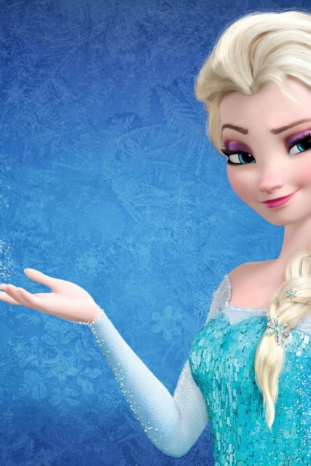 Snow Queen Elsa in Frozen wallpaper 640x960