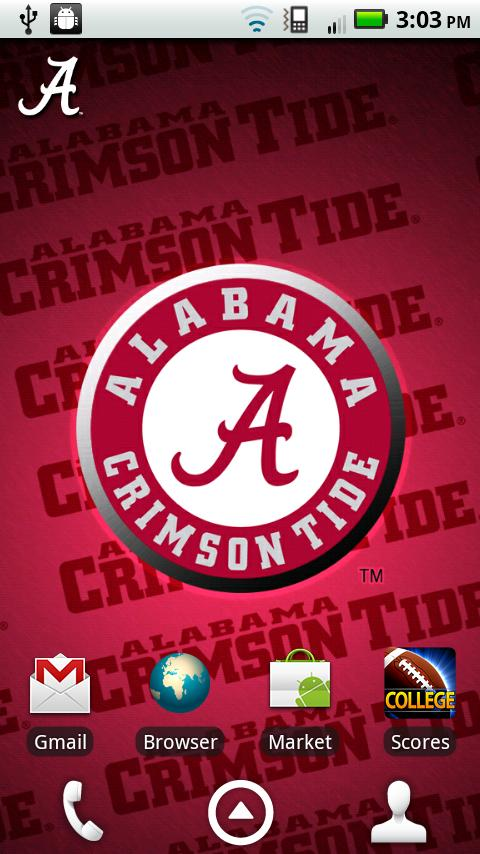 alabama crimson tide revolving wallpaper app with the background 480x854