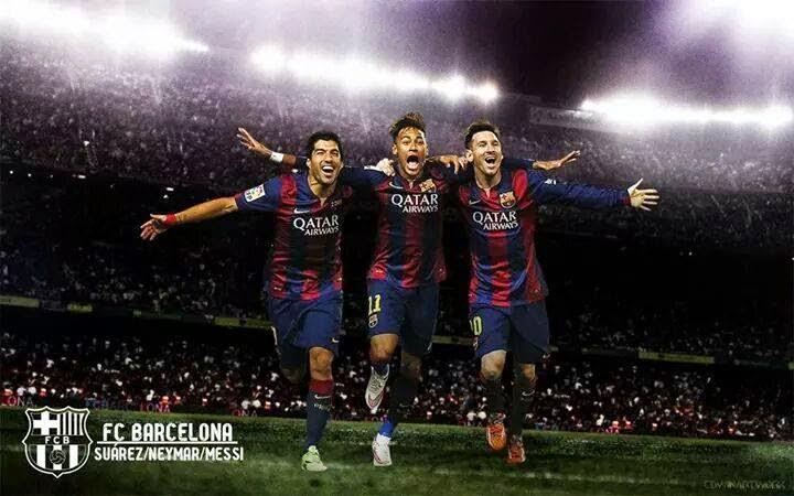 Messi Neymar Suarez wallpaper 2015 FCBarcelona Cules de fc Barcelona 720x450