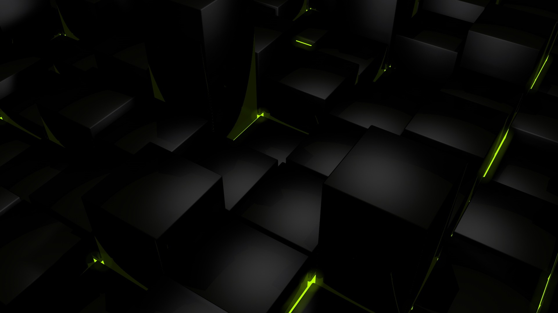 dark cubes glow computer graphics wallpaper background 1920x1080