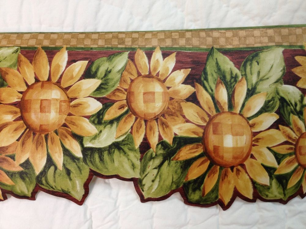 download Primitive Country Sunflower Wallpaper Border eBay 1000x750