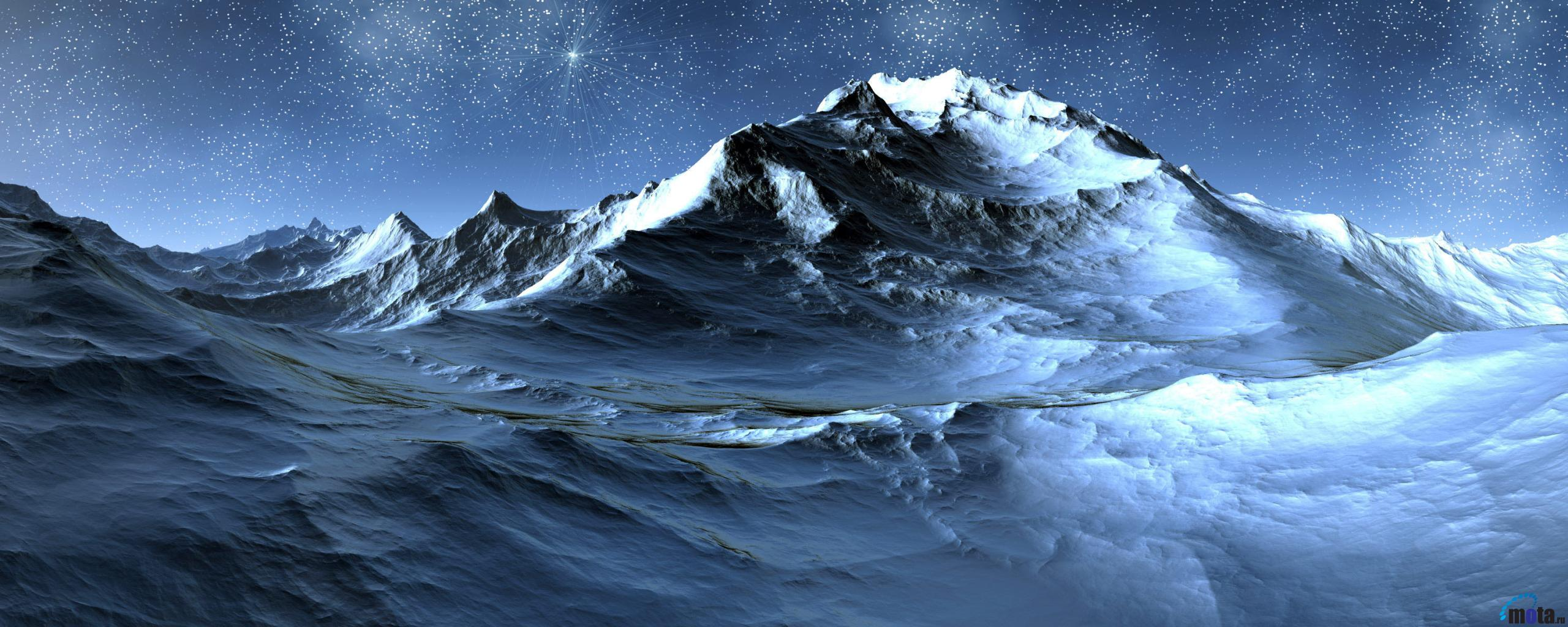 Download Wallpaper Antarctica at Night 2560 x 1024 Dual Monitor 2560x1024