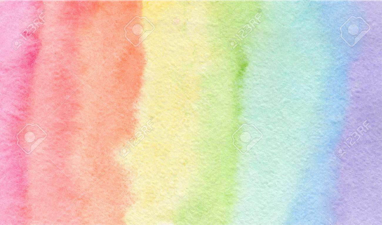 Tender Rainbow Colors Watercolor Background Wash Technique 1300x768