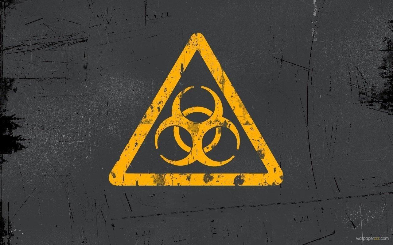 wallpaperzzzcomwallpaperswidescreenhiresyellow biohazard signjpg 1280x800