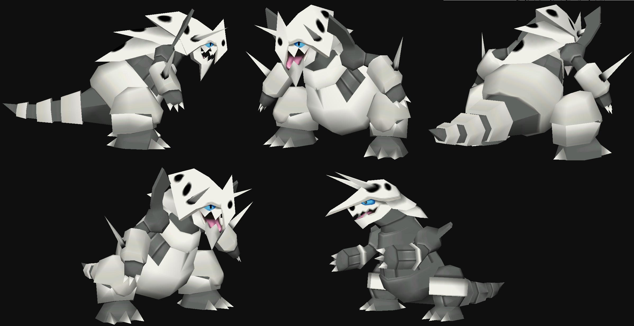 Mega Aggron papercraft Model preview by javierini on 2396x1232