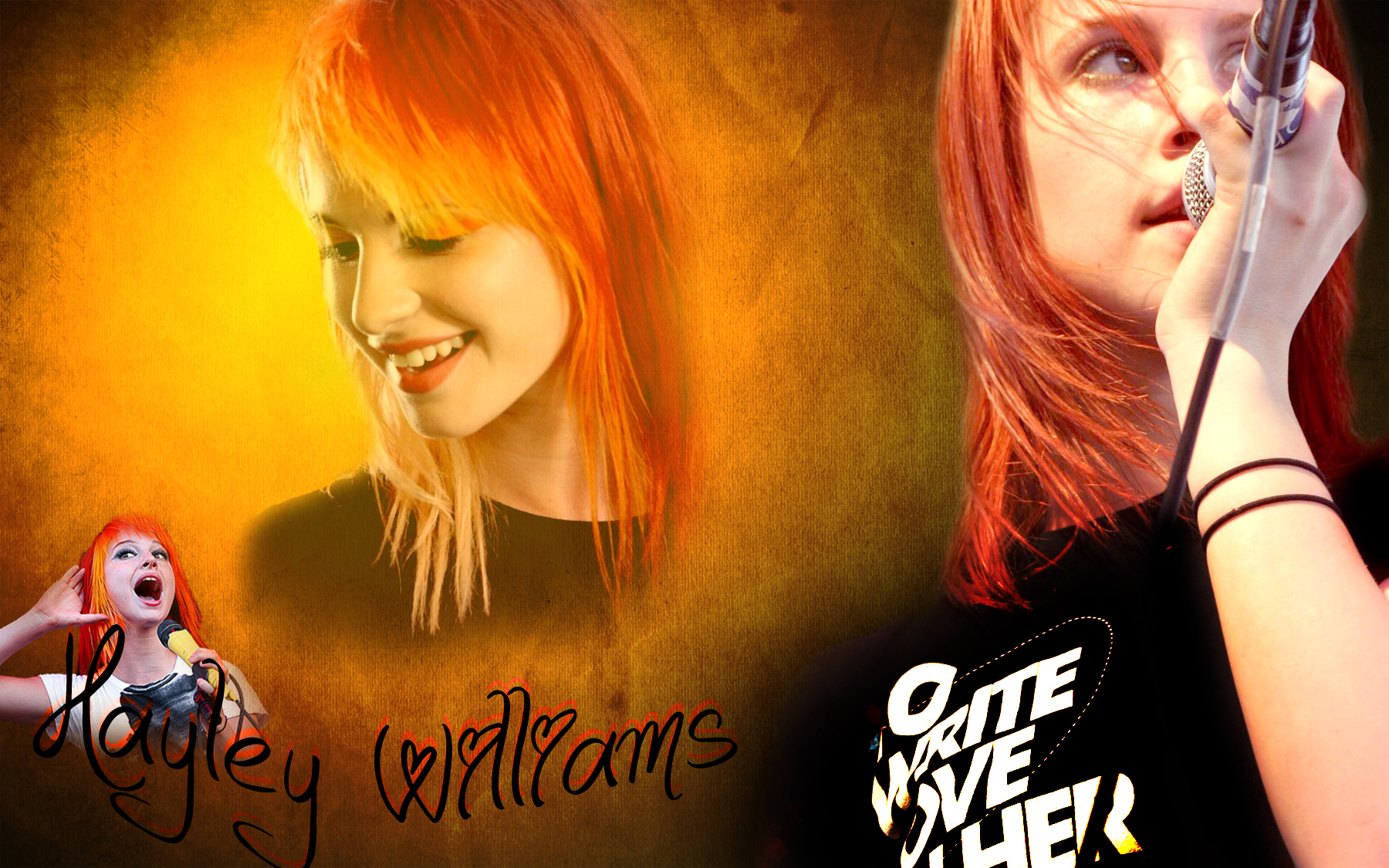 Colorful Abstract Hayley Williams HD wallpaper 1800x1125