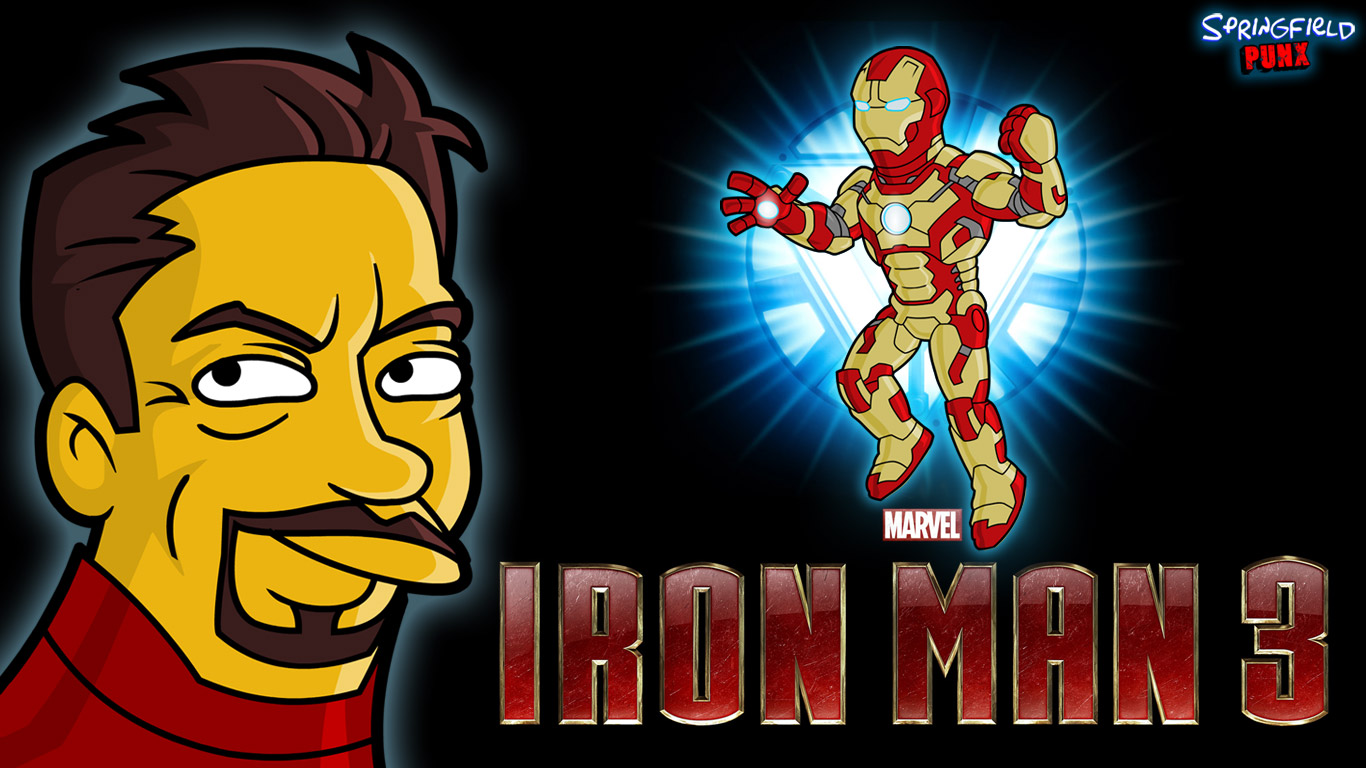 Springfield Punx Iron Man 3 Wallpaper 1366x768