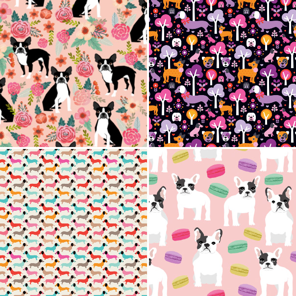Free Download Dog Fabric And Wallpaper Designs At