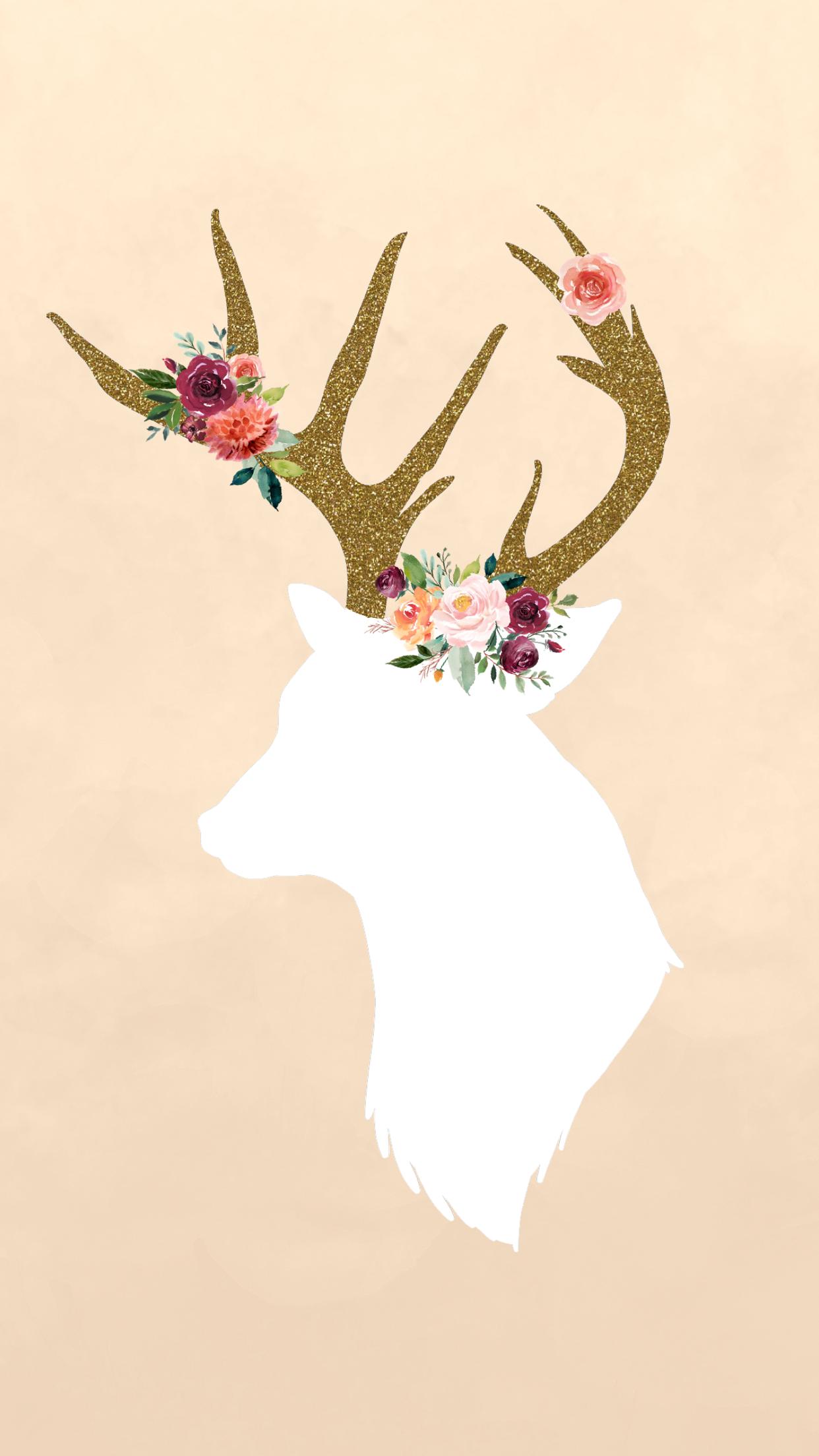 Fall floral deer phone wallpaper wwwlynnmeadowsphotographycom 1242x2208