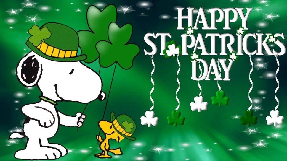 49 Snoopy St Patrick Wallpaper On Wallpapersafari