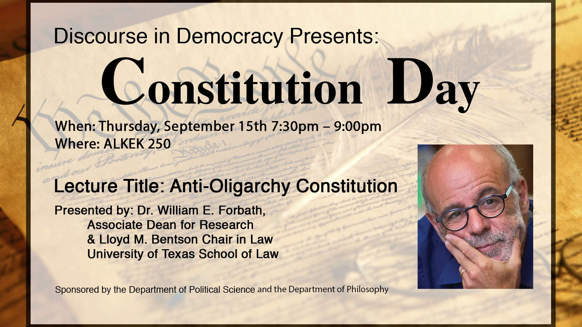 Constitution Day Department of Philosophy Texas State University 1920x1080
