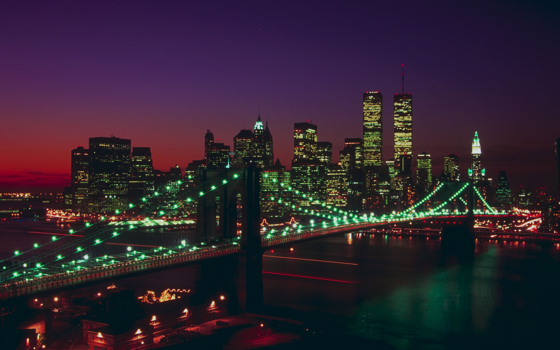 Free Download High Resolution New York Skyline At Night Wallpaper
