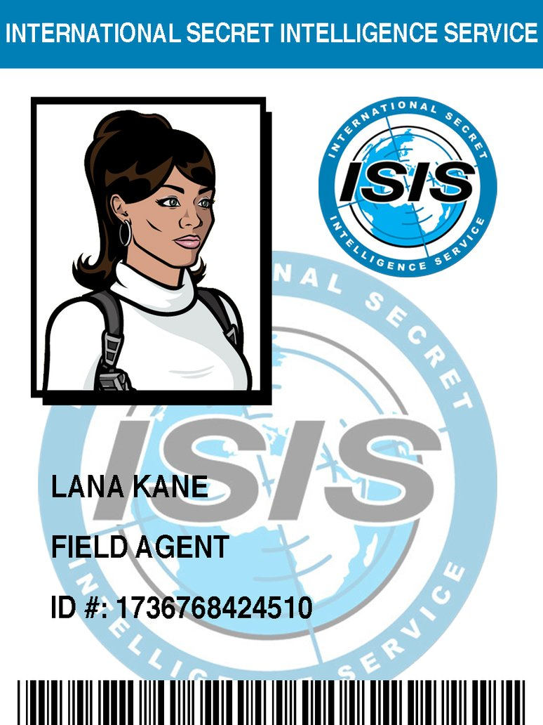 Lana Kane badge by SterlingMArcher 774x1032
