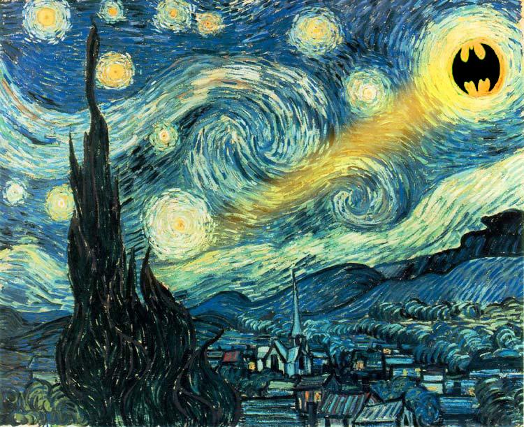 starry night with batman by BlackMan06 on DeviantArt