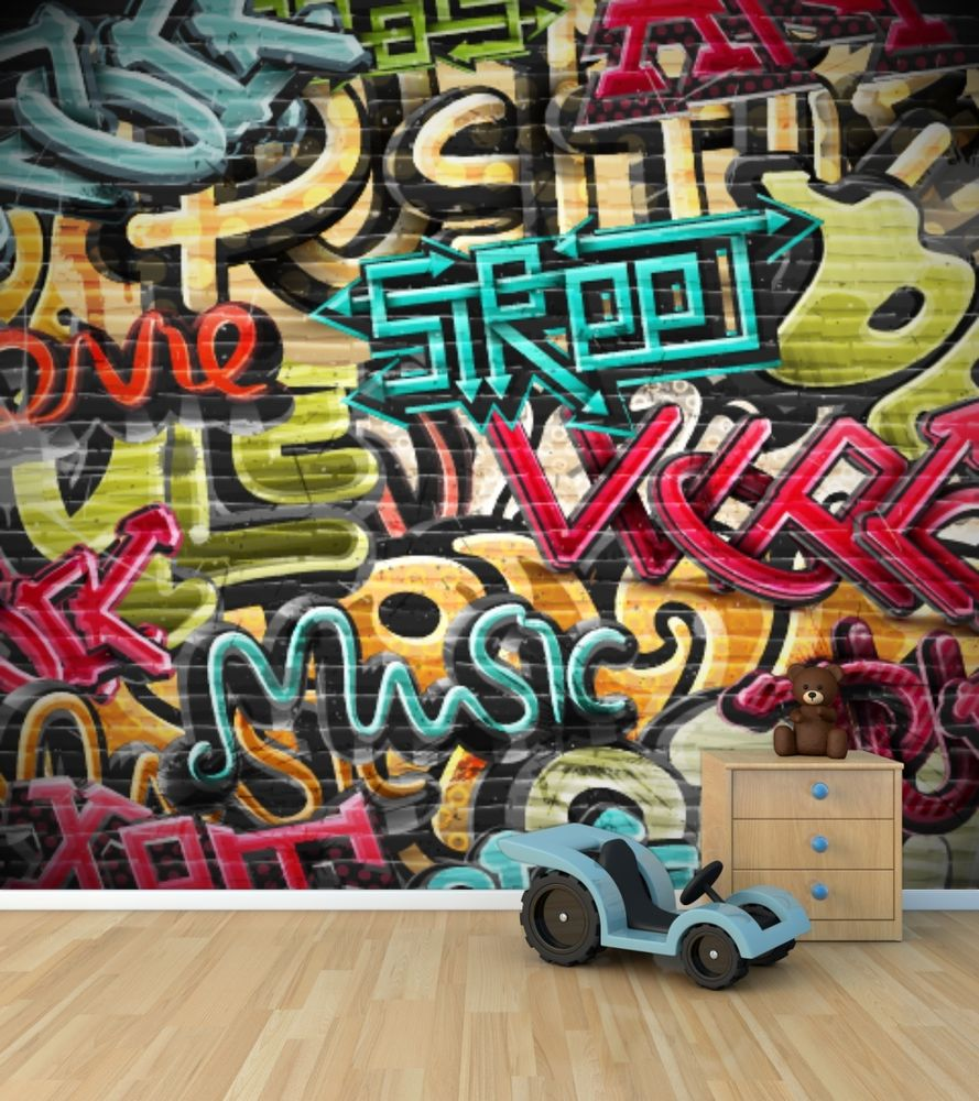 Free download Graffiti wall wallpaper mural style 2 ...