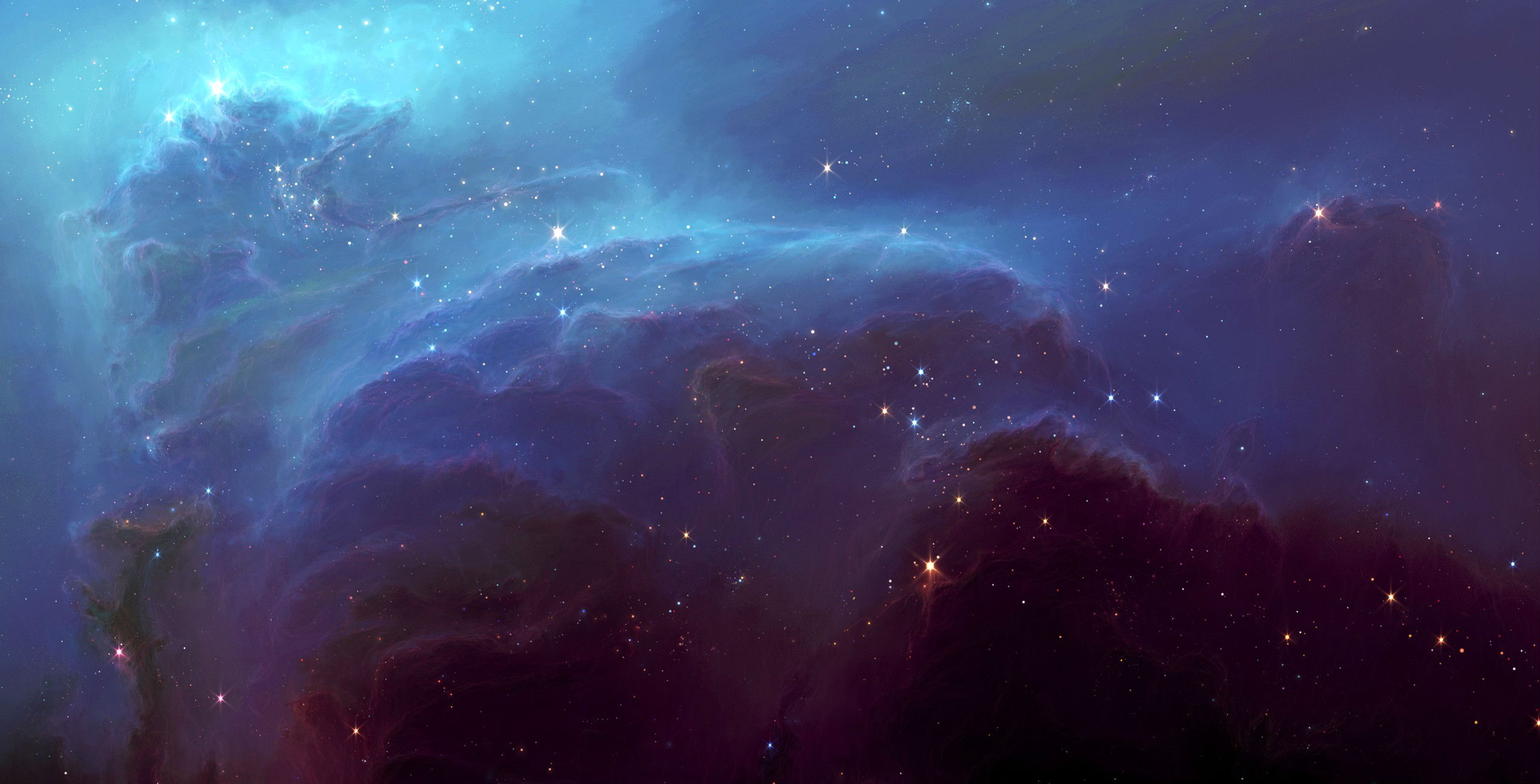 Desktop Nebula HD Wallpapers 2555x1302