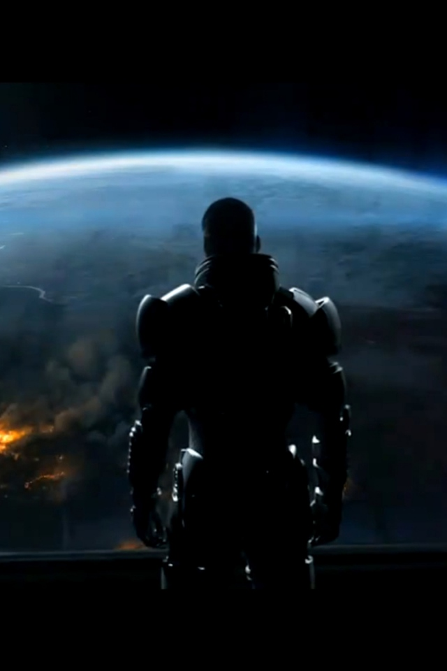 Shepard Earth Planet Wildfire Wallpaper Background iPhone 4S 4 640x960