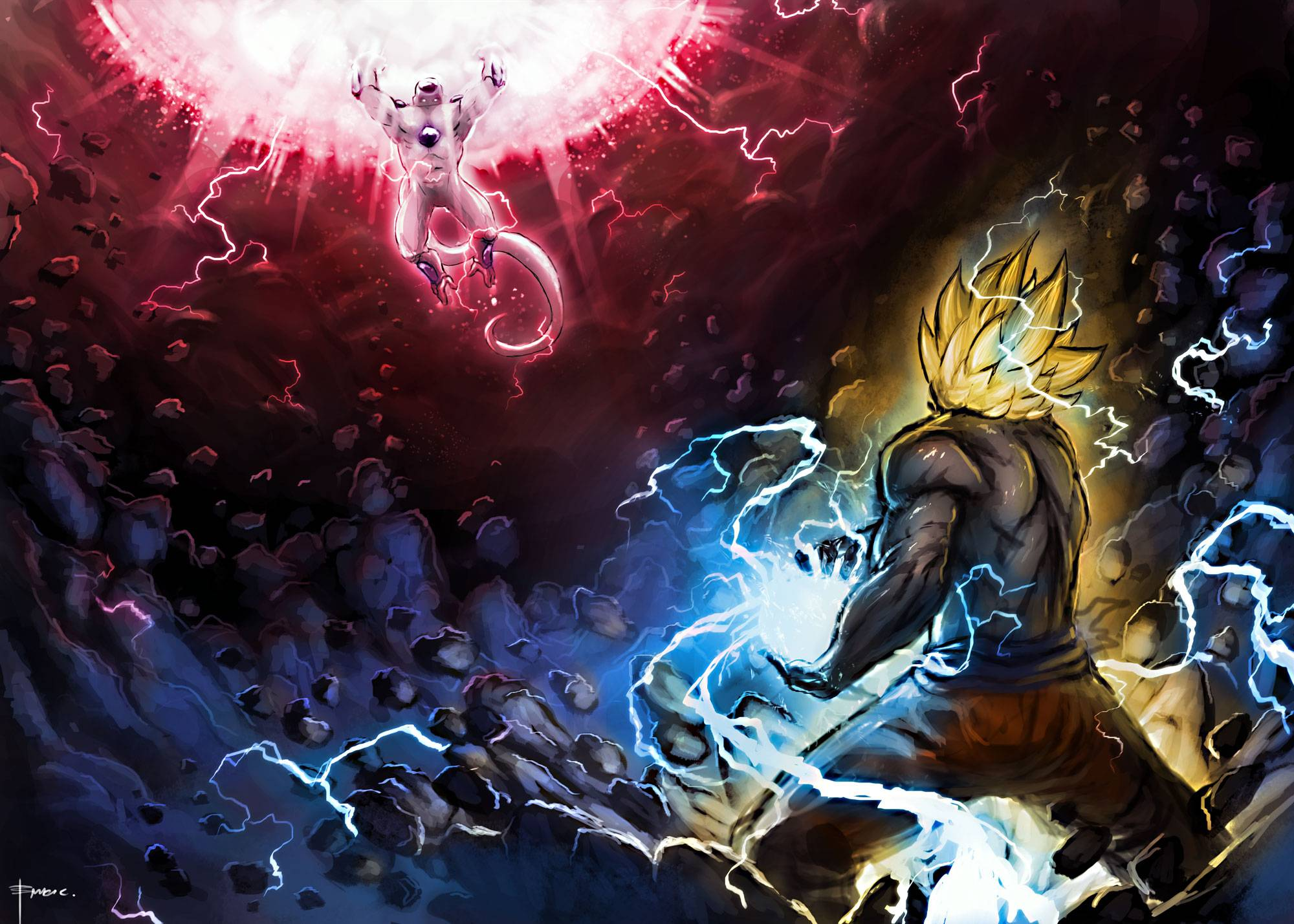 Goku vs Frieza   DragonBall z Wallpaper 2000x1429