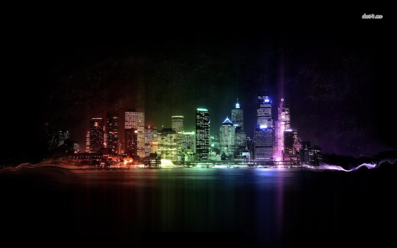 Neon city lights wallpaper   Digital Art wallpapers   13002 1280x800