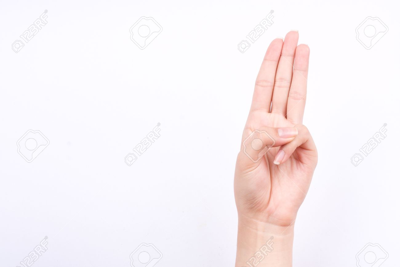 Finger Hand Symbols Isolated Concept Three Fingers Pledge Scouts 1300x866