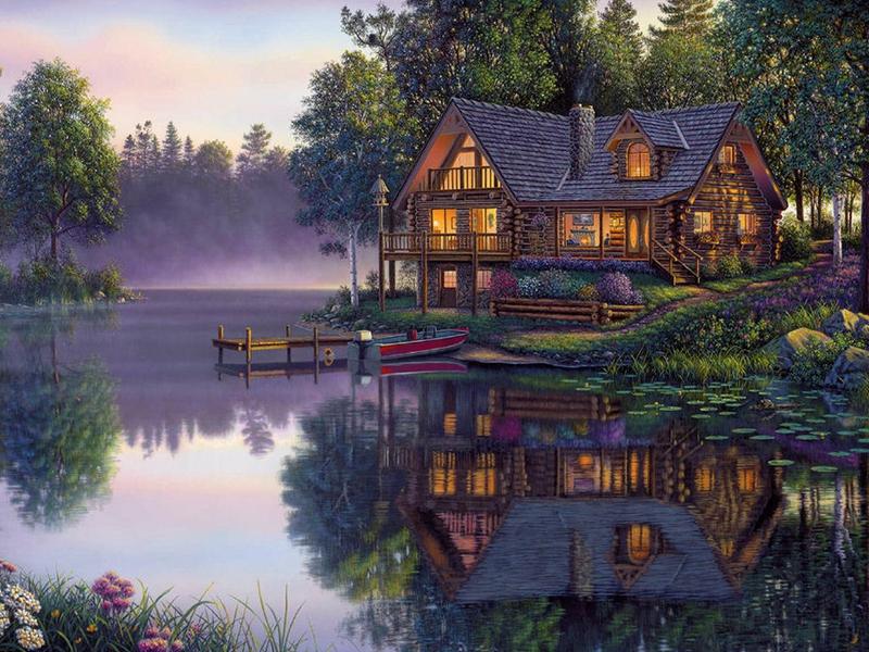 Boat Flower Sweet Serenity Nature Other HD Desktop Wallpaper