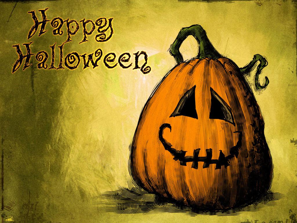 Home Holidays Halloween Cute Halloween Wallpaper 1024x768