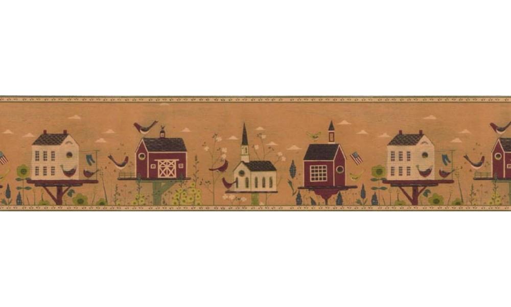 Country Wallpaper Border B74764 1000x600