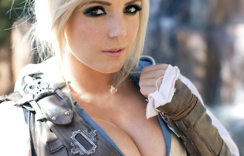 Wallpaper boobs Assassins Creed cosplay jessica Nigri images 1332x850