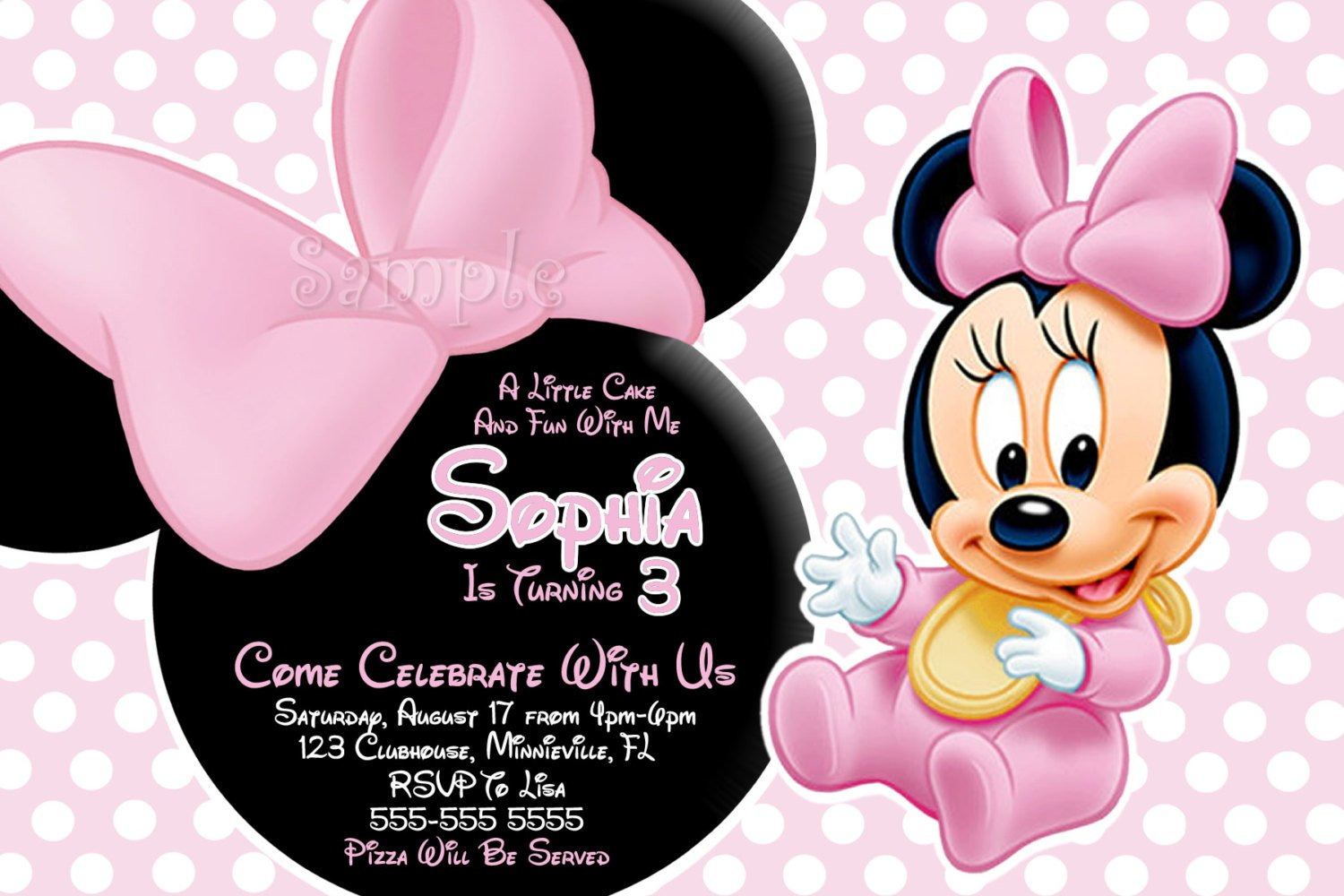 Baby Minnie Mouse Invitations Shower Best Cartoon Wallpaper 1500x1000