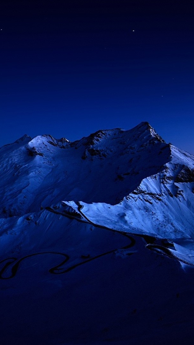 Dark Blue Mountains iPhone 5s Wallpaper Download iPhone Wallpapers 640x1136