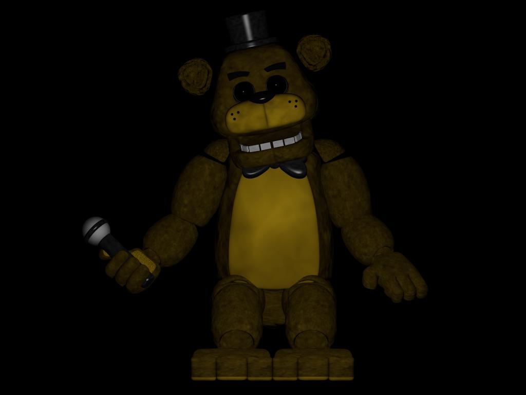 Golden Freddy pose   FNaF by MisterSparky6666 1024x768