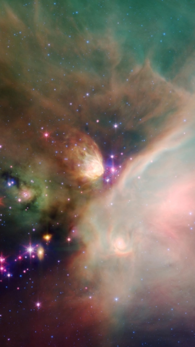 Colorful Galaxy iPhone 5s Wallpaper Download iPhone Wallpapers iPad 640x1136