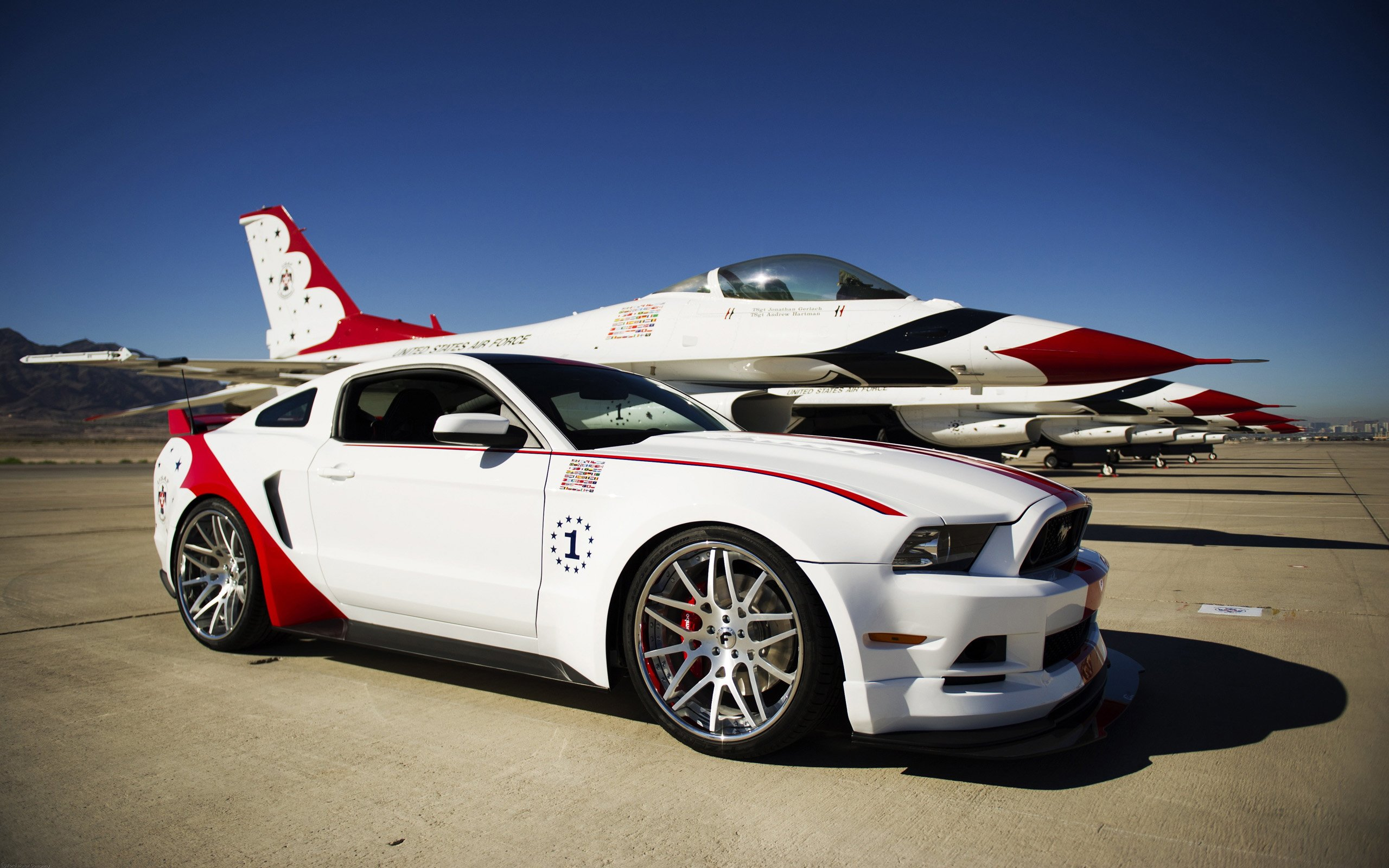 2014 Ford Mustang GT US Air Force Thunderbirds Edition Wallpaper HD 2560x1600