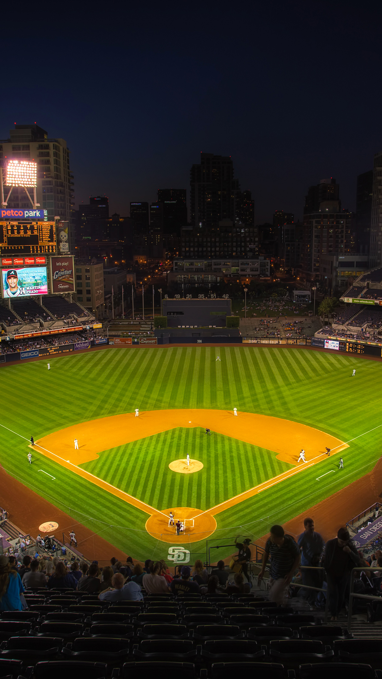 Best Wallpapers for all iPhone Retina Baseball Petco Park 1242x2208