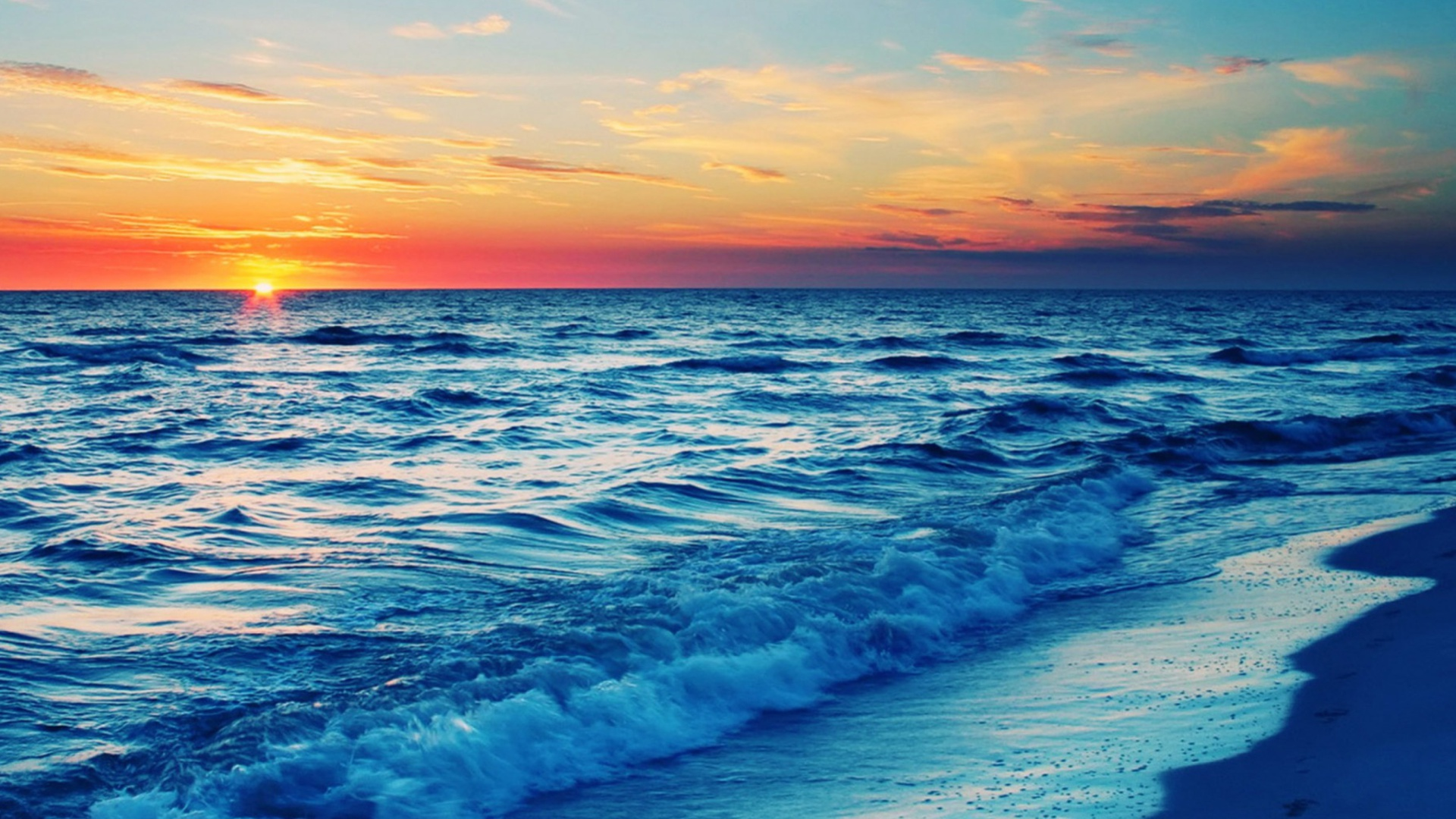 Beach At Sunset 1920x1080 wallpaper1920X1080 wallpaper screensaver 1920x1080