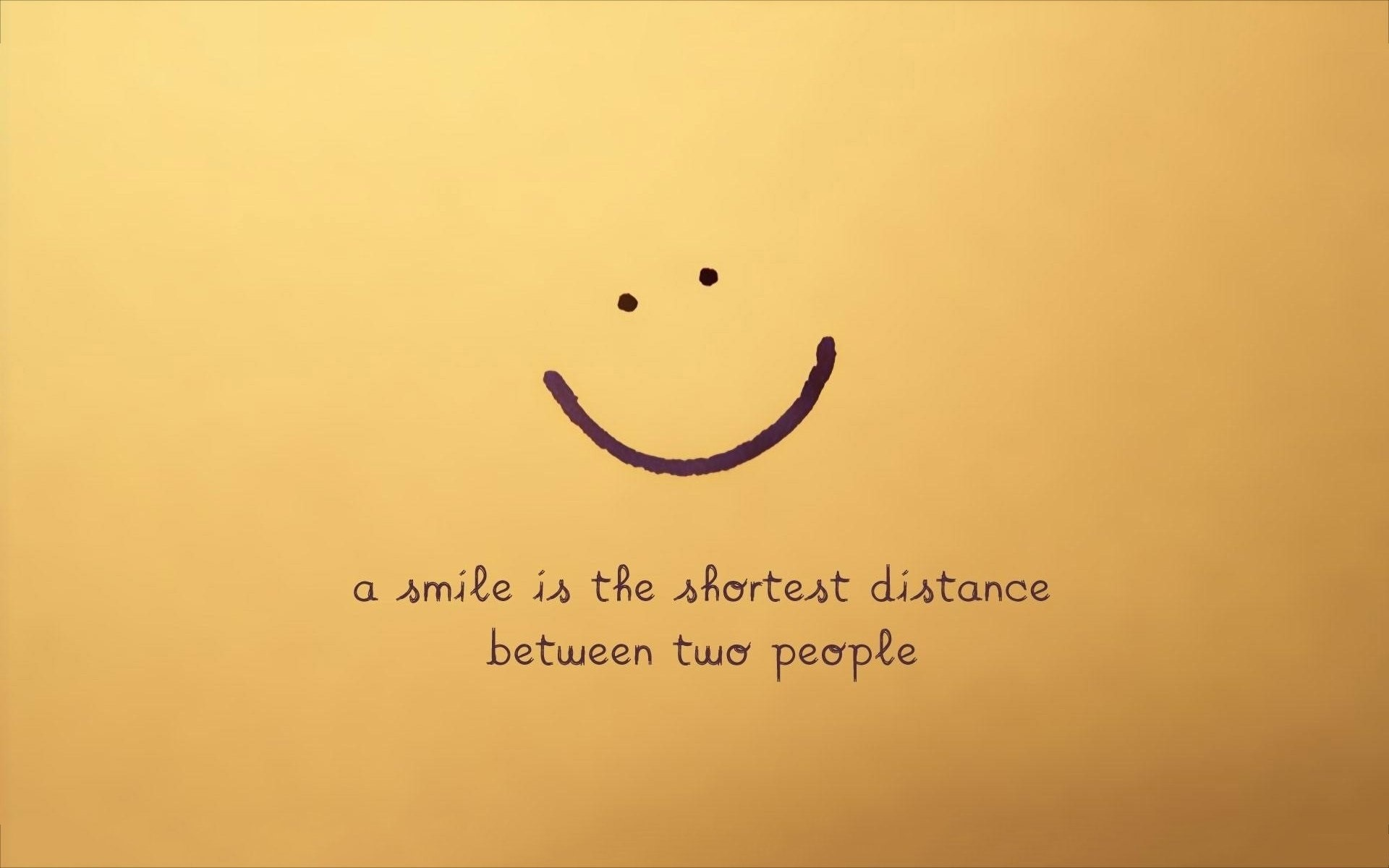 Nice Smile Quotes Background with Yellow Background HD Wallpapers 1920x1200