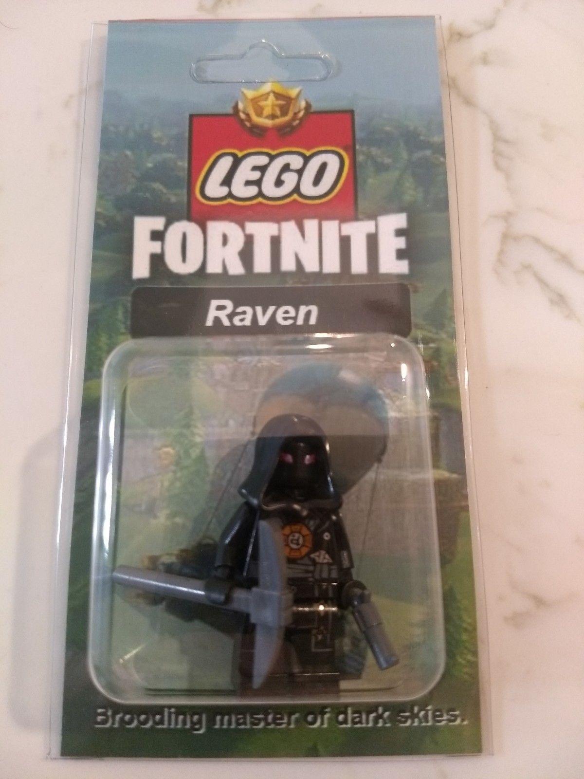 NEW LEGO Custom Raven Minifig Fortnite Battle Royale Skins Pickaxe 1200x1600