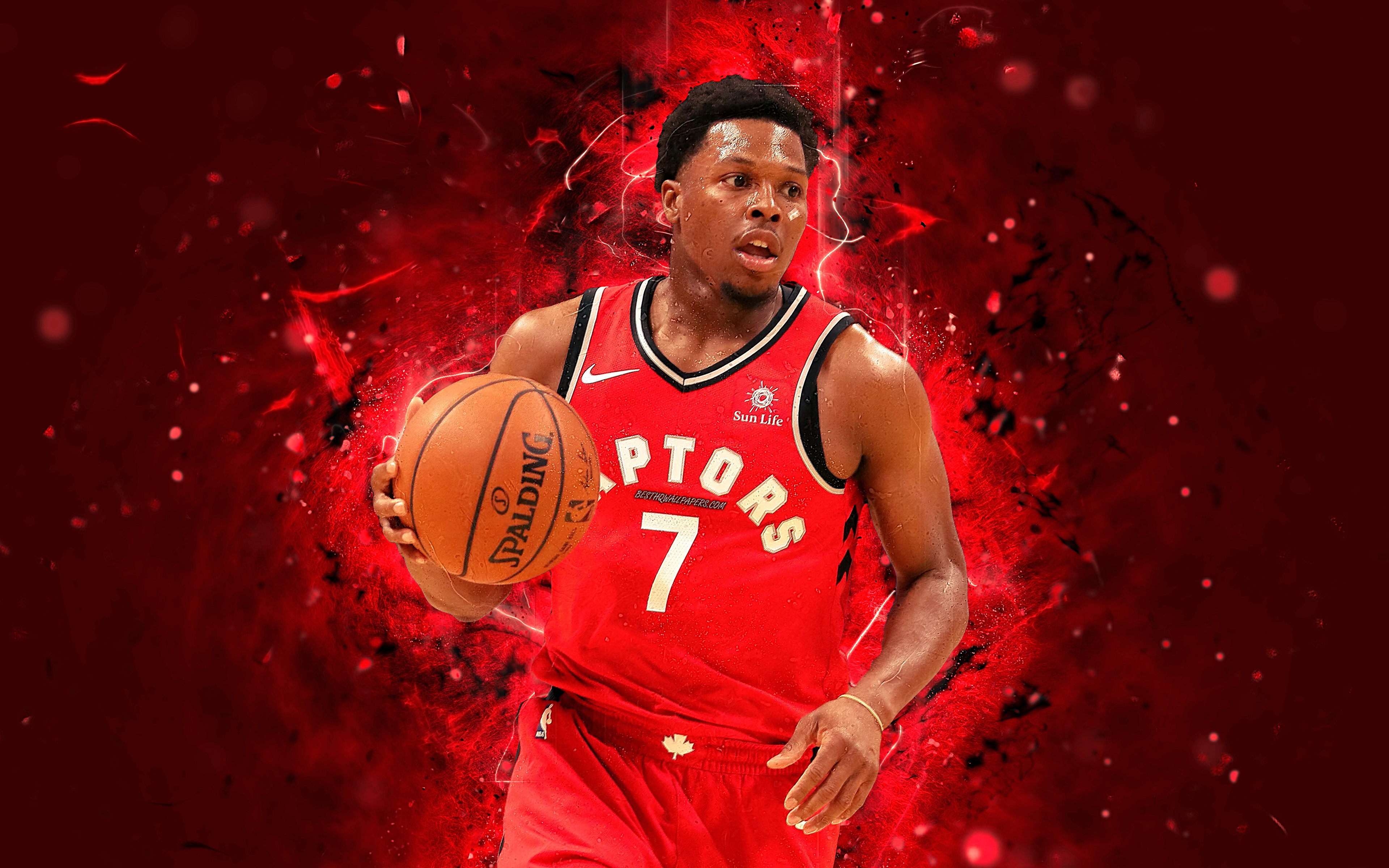 Free Download Download Wallpapers Kyle Lowry 4k Abstract Art Nba