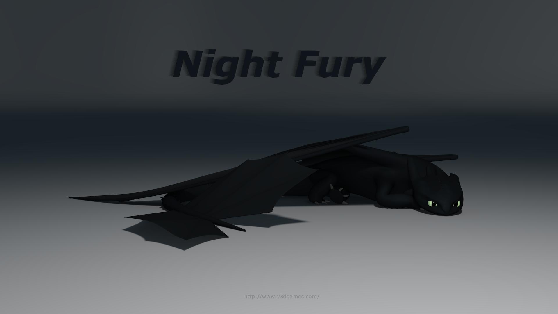Visual 3D Technology   Night Fury Model 1920x1080