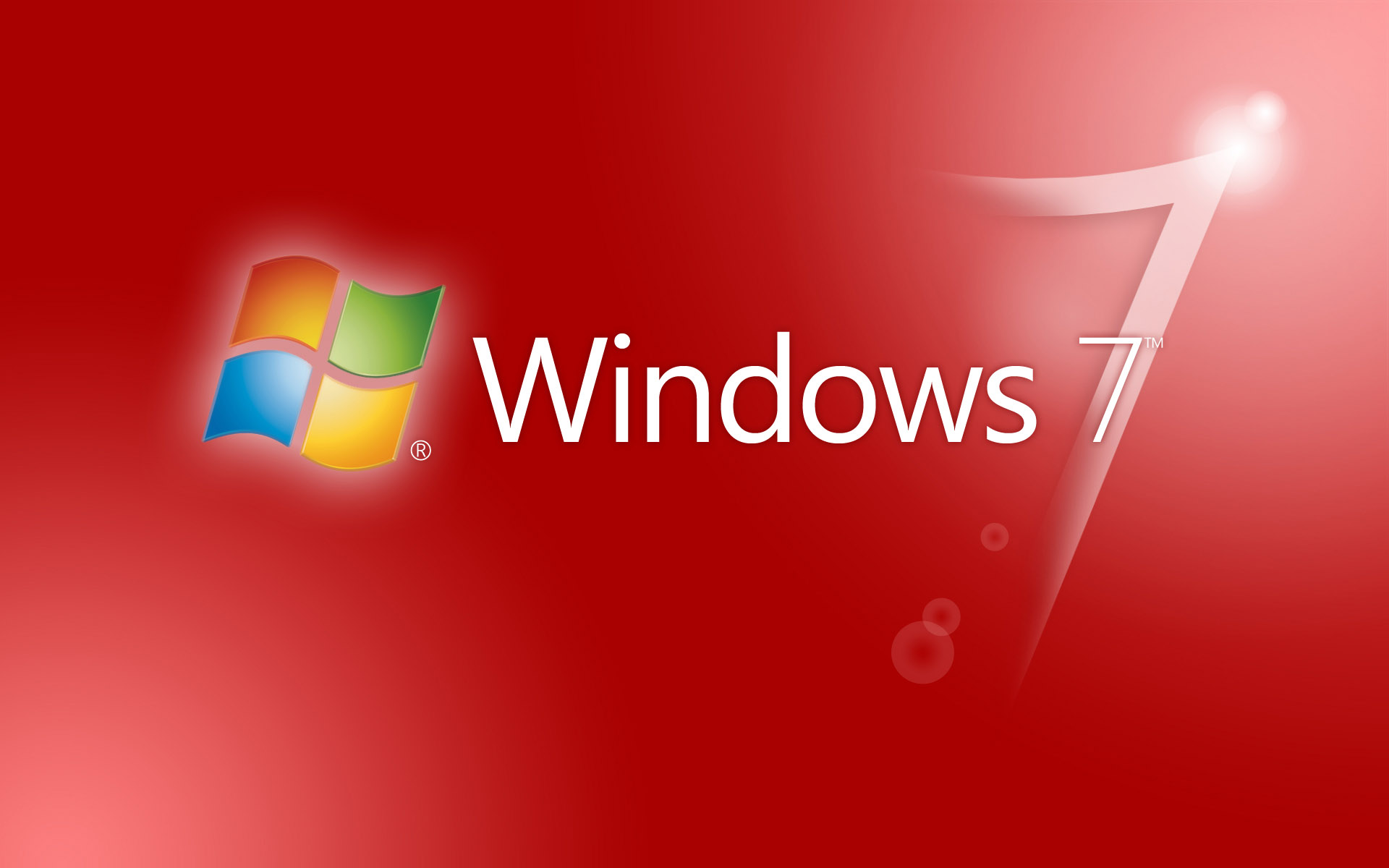 Windows Seven red theme wallpapers and images   wallpapers pictures 1920x1200