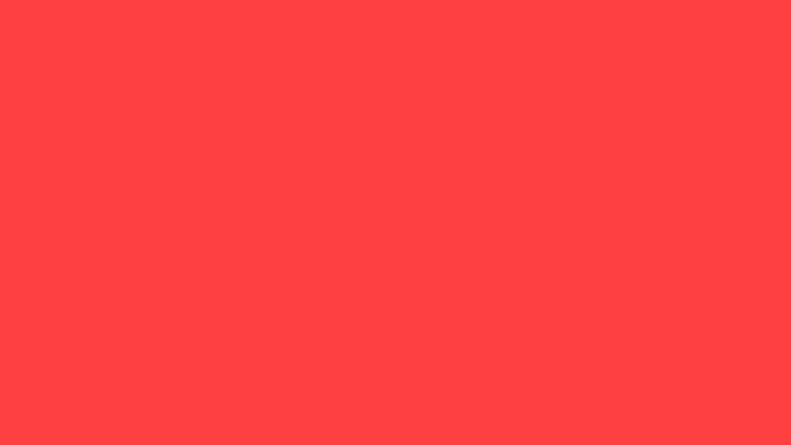 2560x1440 resolution Coral Red solid color background view and 2560x1440