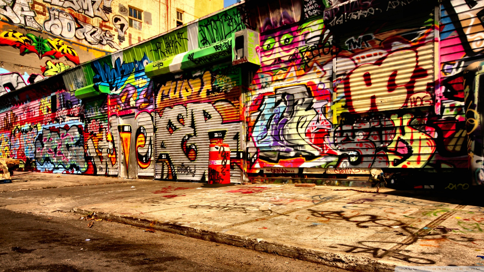Graffiti Art On Walls Wallpaper 1920x1080 Graffiti Art On Walls 1920x1080